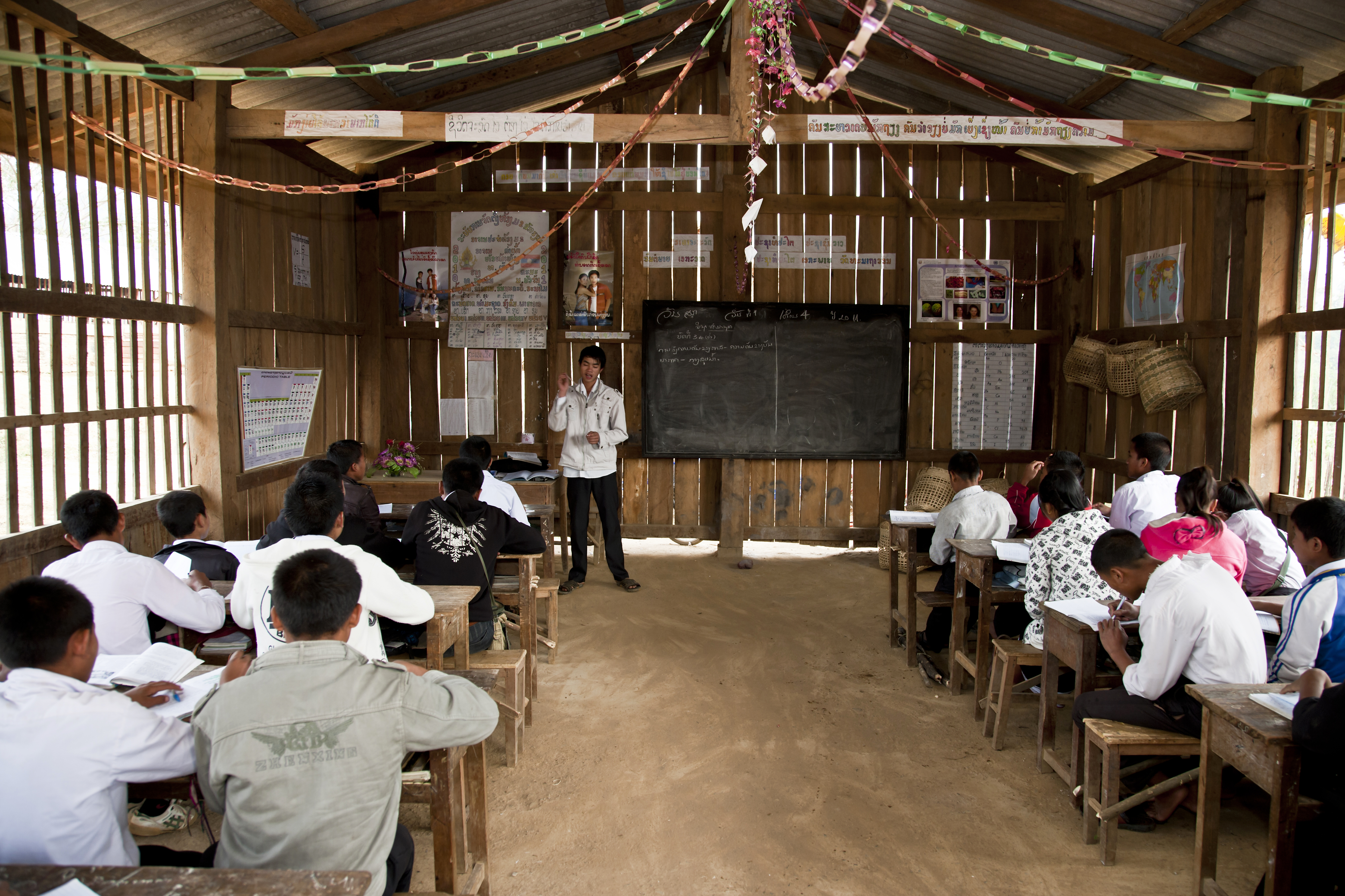 Improving teacher skills assists students to learn better at Na Thong school in Laos. Photo by Bart Verweij for AusAID