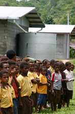 This primary school in Vanimo, Papua New Guinea is provided with water by the government. Photo by Jacqueline Smart Ferguson for AusAID