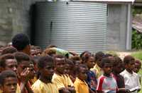 This primary school in Vanimo, Papua New Guinea is provided with water by the government.