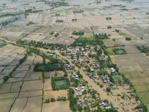 Villages and livelihoods were destroyed as rice paddies were flooded for months after cyclone Nargis struck Myanmar in 2008. Photo by Neryl Lewis, RRT