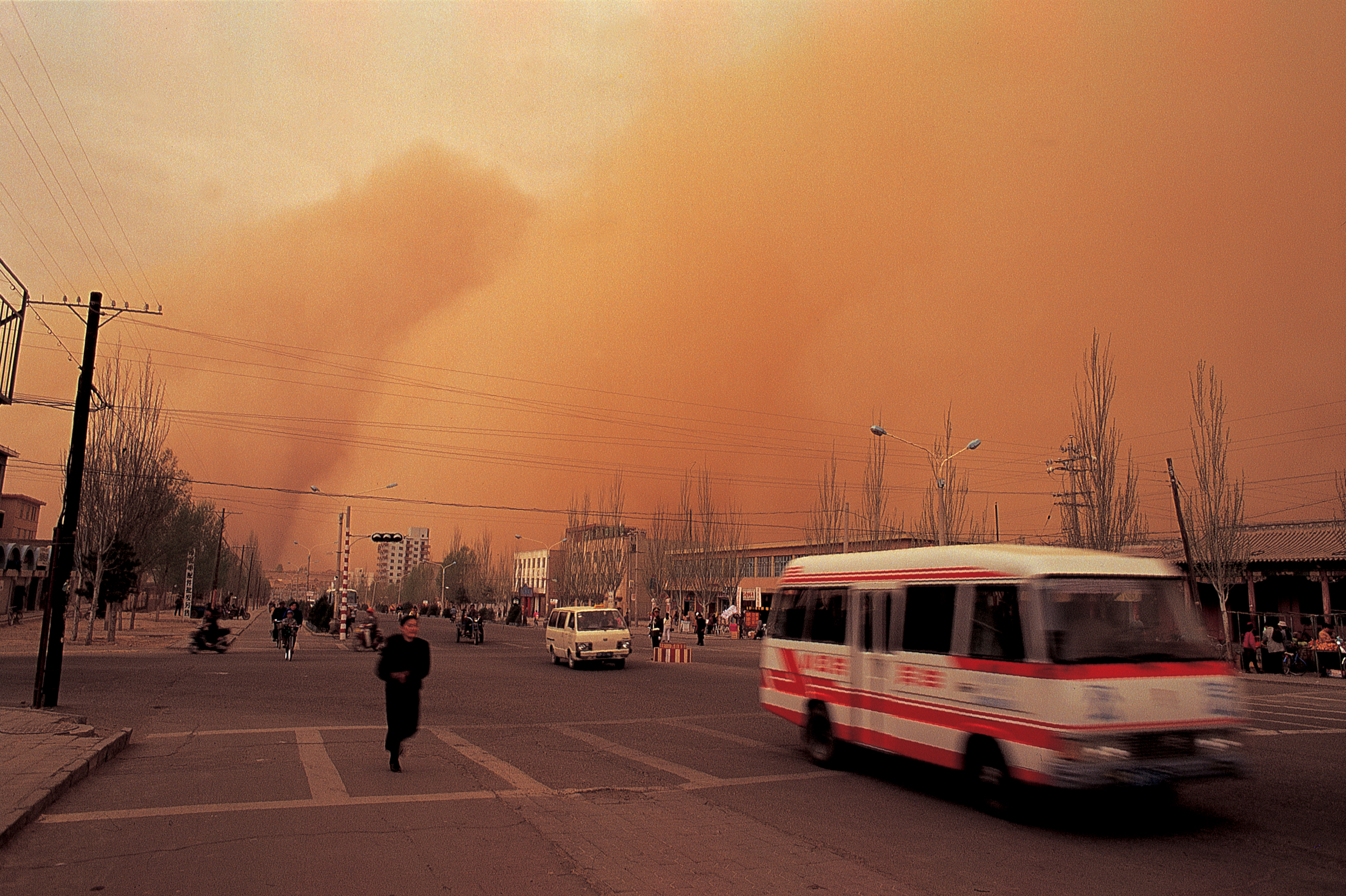 Drought and deforestation contribute to sandstorms blowing into towns from the Gobi Desert in China, causing respiratory problems. Photo by Se Hasibagen for AusAID