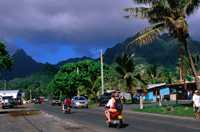 A 32-kilometre road circles the whole of Rarotonga, the main island of the Cook Islands.