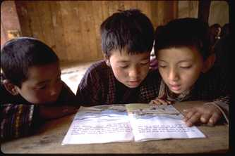 AusAID and UNICEF have been working together to help Bhutanese children gain access to a quality education. Photo ©UNICEF/NYHQ1996-0318/FranckCharton