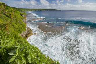 A view of the west coast of the island nation of Niue. Photo © Bob Krist/Corbis