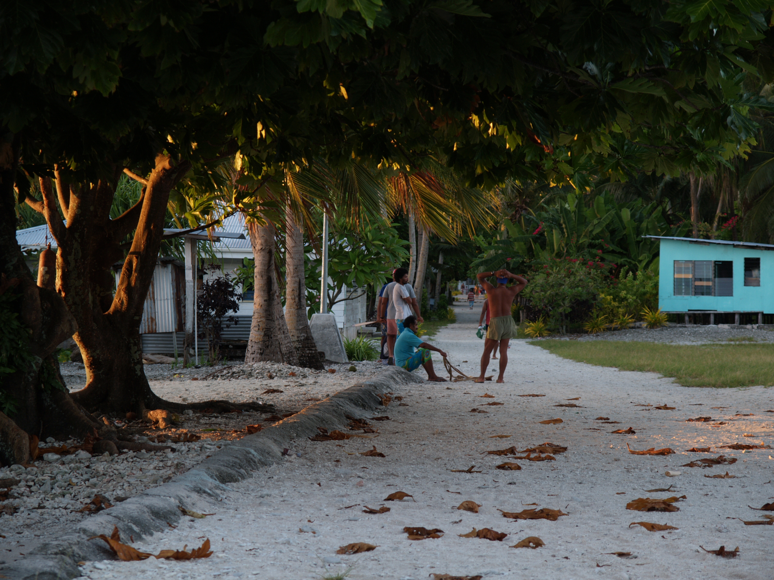 The main street of Atafu village, Tokelau, at dawn Photo by CloudSurfer/Wikimedia http://creativecommons.org/licenses/by-nc-nd/2.0/