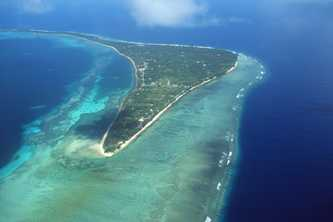 Aerial view of Kuwajelein Atoll, Marshall Islands Photo © Specialist Stock/Corbis