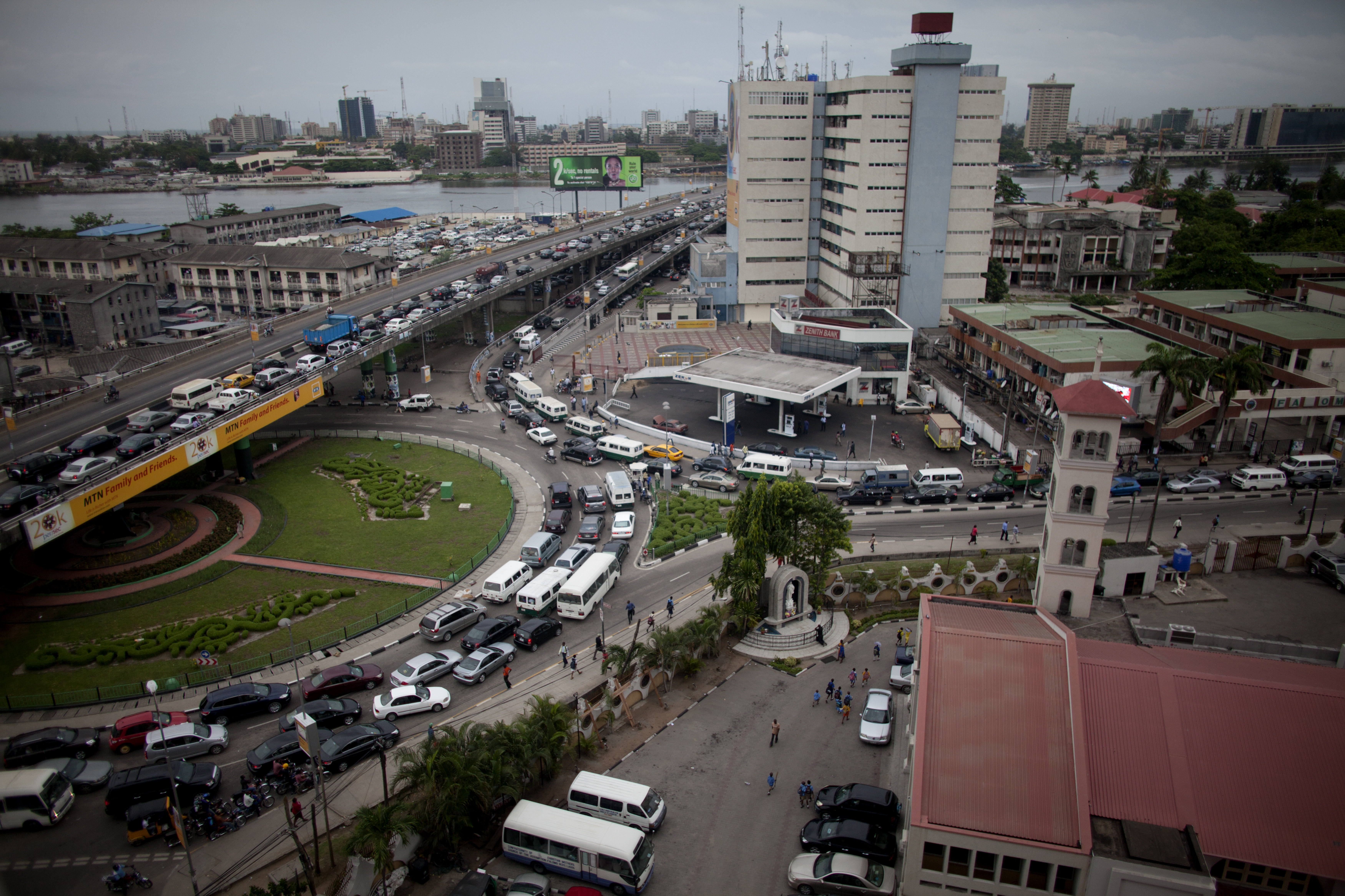 Lagos is home to over 10 million people, making traffic a major problem but measures are being taken to improve it. Photo © Jane Hahn/Corbis