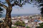 Freetown, the capital of Sierra Leone and with a population of more than a million, is on the coast of the Atlantic Ocean.
