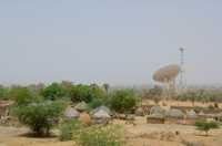 Villages in the dry northern part of Niger are constructed of sun-dried brick and thatch.