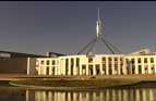 The giant flag mast on Parliament House Canberra, Australia.