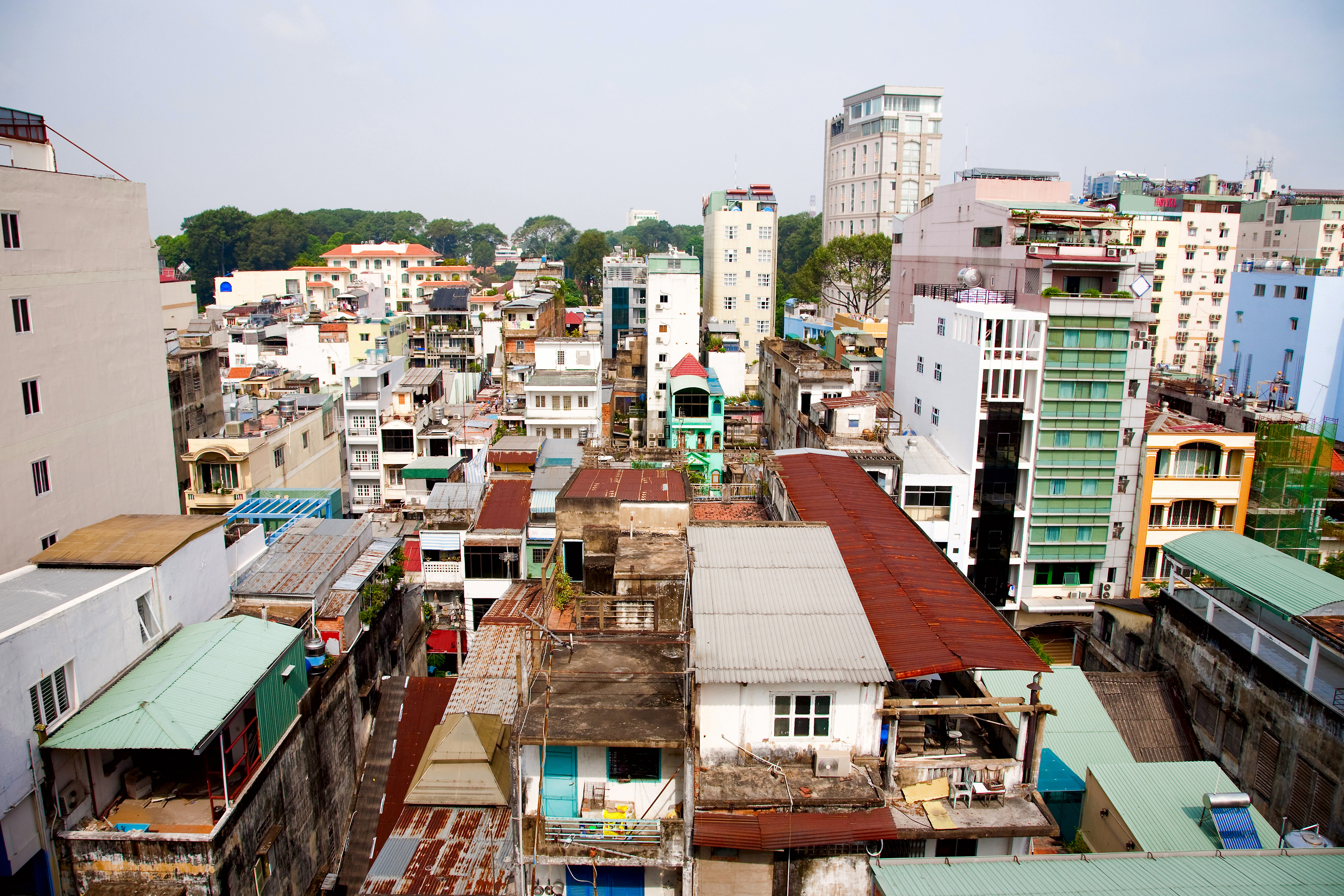 Ho Chi Minh City, Vietnam, is a large bustling city of seven million people, which mixes old and new architecture. Photo by magicinfoto/shutterstock.com