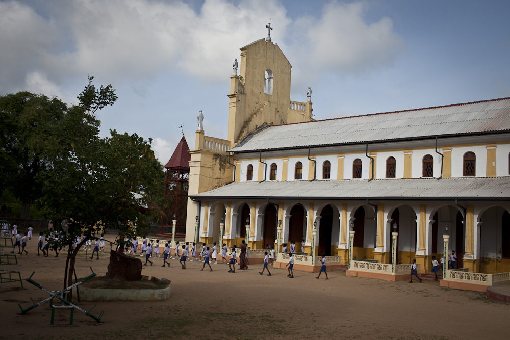 A church and school in Jaffna, Sri Lanka, show the influence of settlers from Europe. Photo by AusAID