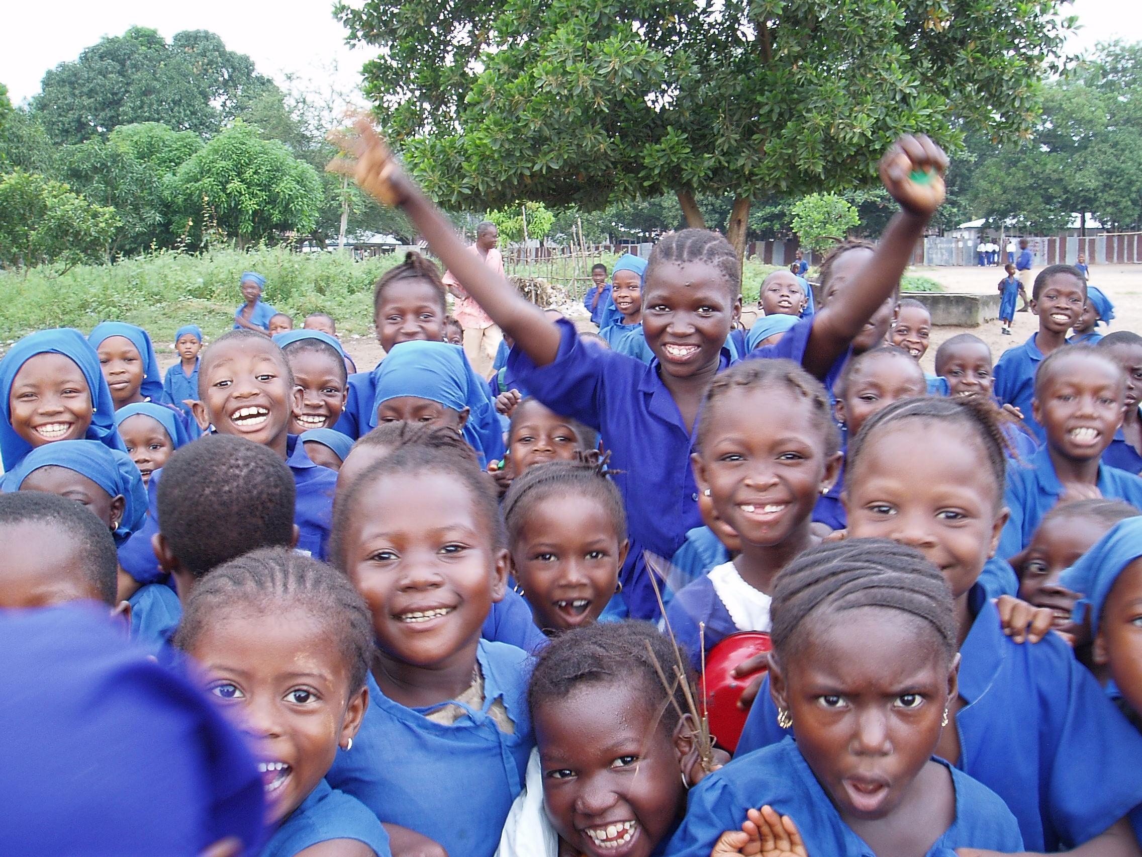 Students in Sierra Leone are happier at school and at home after learning peaceful strategies to deal with conflict. Photo by Jane Weston