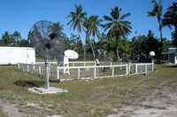 A weather-monitoring station in Kiribati.