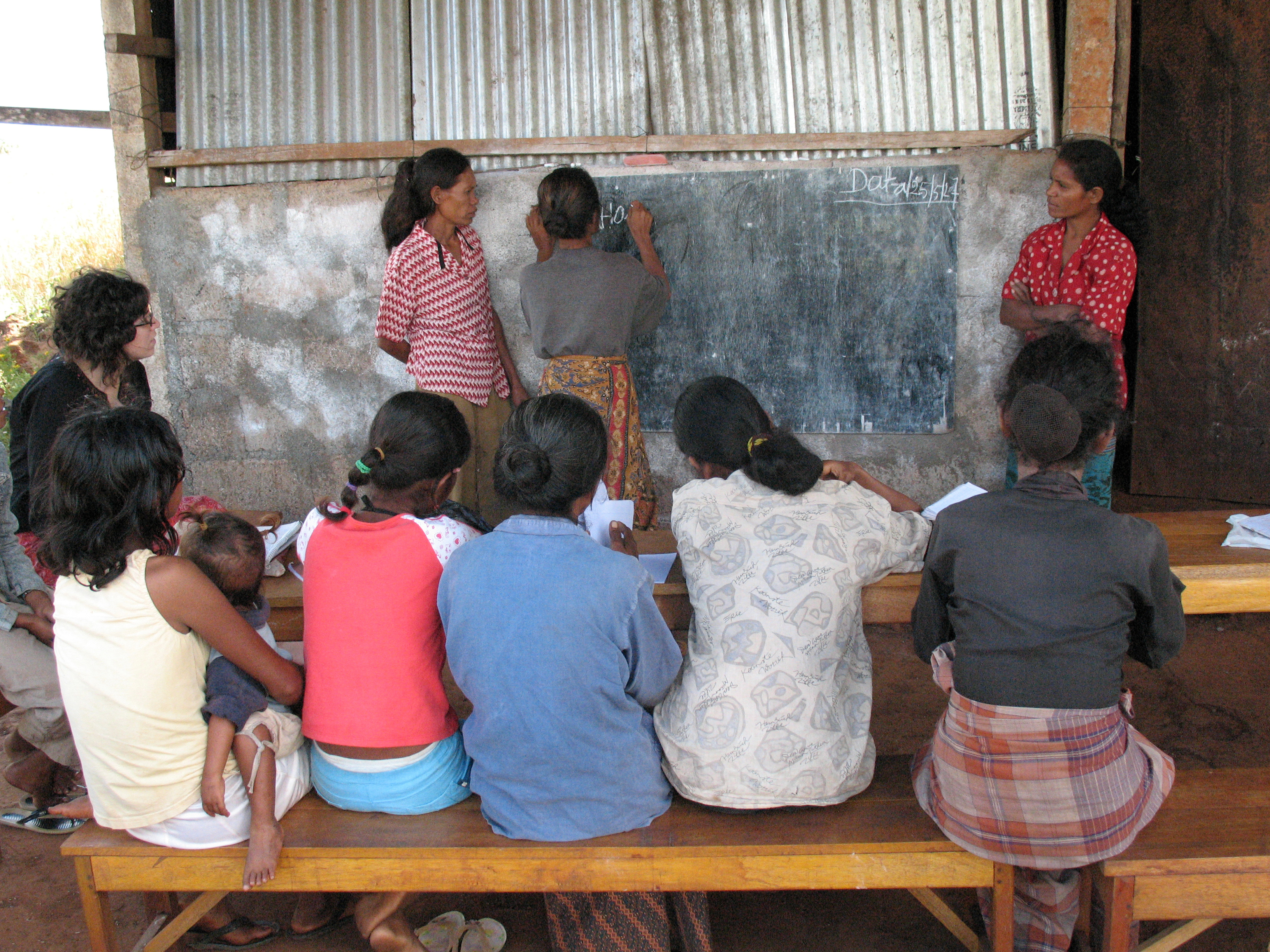 Village women experience new freedom through learning and talking together, in Timor-Leste. Photo by Erin McKinnon/IWDA