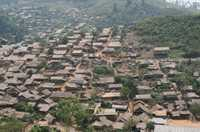 To minimise environmental impact, Myanmar refugees construct and repair their houses with materials provided by the Thailand Burma Border Consortium.