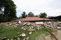 Most buildings were destroyed in the 2007 earthquake on the Mentawai Islands, but emergency preparation meant everyone was evacuated safely.