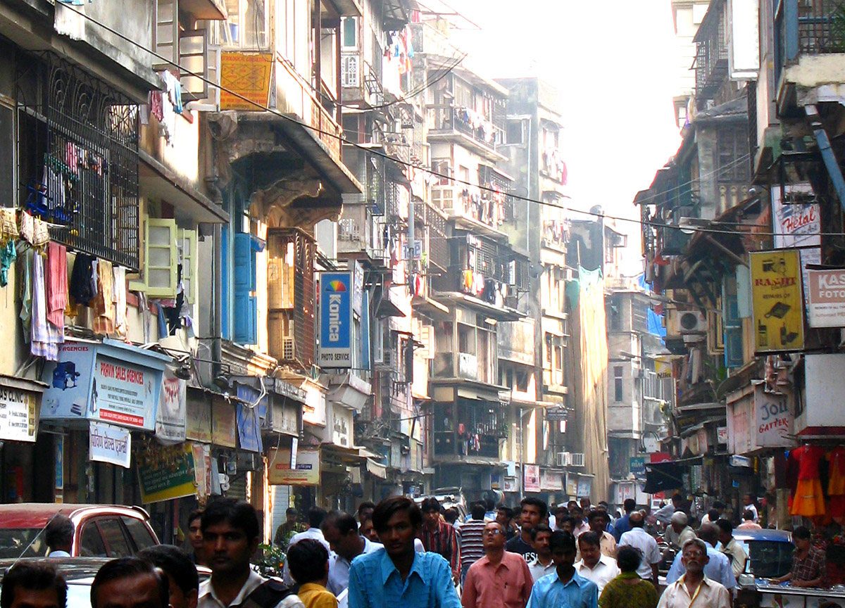 In older areas of Mumbai, India, homes have one room for living and sleeping, a cooking area and shared toilet. Photo by Happy Sleepy / Flickr http://creativecommons.org/licenses/by-nc-sa/2.0/