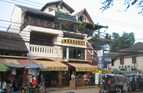 Apartments built above shops in Vientiane, Laos