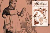 Cartoon supporting he Pacific Island Labourers Bill, 1901, showing the Prime Minister, Edmund Barton, cleaning a black boy.