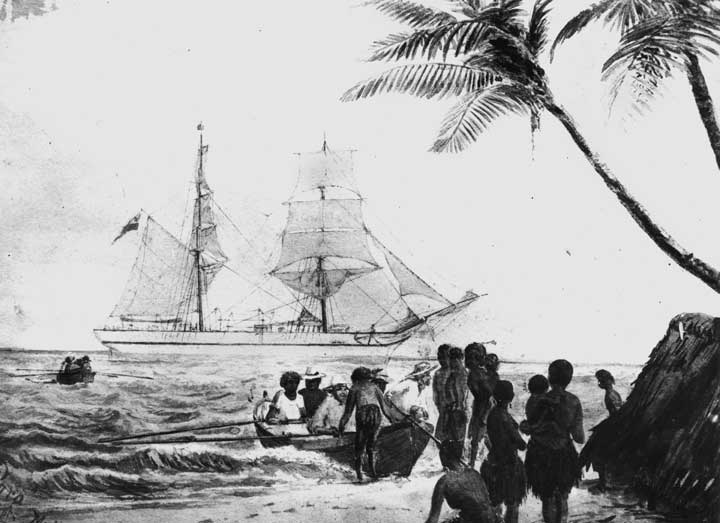 Pacific Island recruiting ship 'Para', c 1880 State Library of Queensland, negative number 65320
