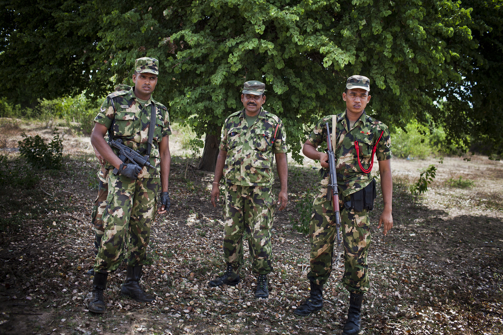 There is a strong military presence in the northern areas of Sri Lanka Photo by Conor Ashleigh for DFAT