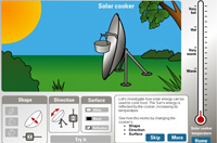 Use NDLRN digital curriculum resource L1140 Energy from the Sun: design a solar cooker to explore factors that help solar energy to be captured effectively.