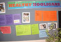 The Healthy Hooligans team created a display of informative posters to educate others about the importance of hygiene to stay healthy.