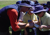 Killara students examine samples