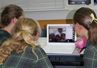 Macarthur girls skyping Indonesian girls