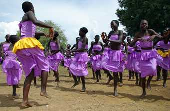 Dance is part of everyday life in Uganda celebrating everything from birth to death, worship to expressing joy. Photo by the USAID Africa Bureau. This image is from Wikimedia, and is in the public domain.